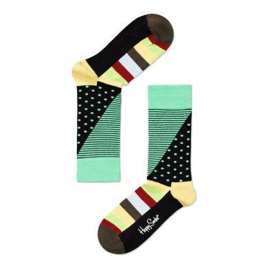 Zelené ponožky Happy Socks s barevným vzorem Stripe Dot