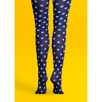 Modré punčocháče Happy Socks s modrými puntíky