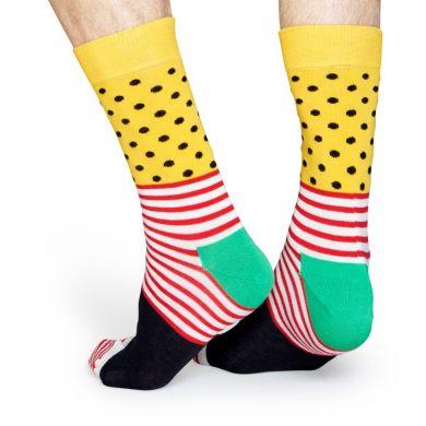 Farebné pruhované ponožky Happy Socks se vzorom Stripe Dot