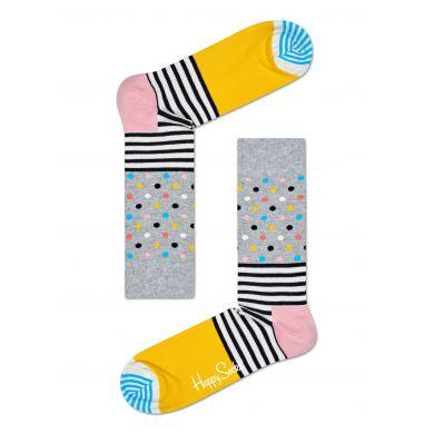 Farebné pruhované ponožky Happy Socks, vzor Stripes and Dots