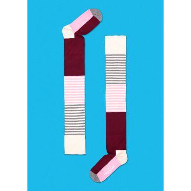 Barevné nadkolenky Happy Socks s proužky
