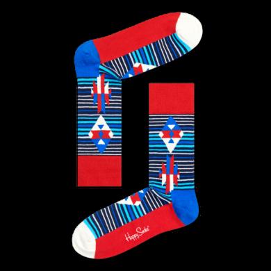 Barevné ponožky Happy Socks s proužky, vzor Inca Stripe