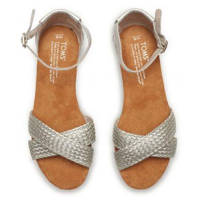 Stříbrné dámské sandálky TOMS Correa