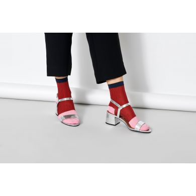 Dámske červené ponožky Happy Socks Janni // kolekcia Hysteria