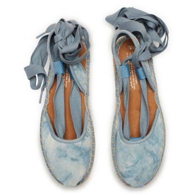 Modré dámské semišové espadrilky TOMS Washed