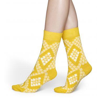Žluté ponožky Happy Socks s hadím vzorem Snake