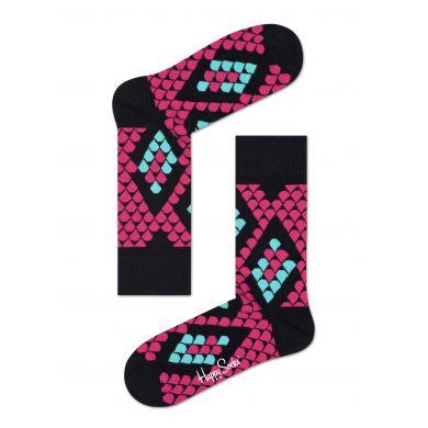 Růžové ponožky Happy Socks s hadím vzorem Snake