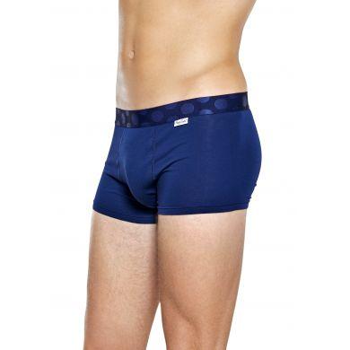 Modré boxerky Happy Scoks Solid s puntíky
