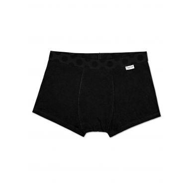 Černé boxerky Happy Socks Solid s puntíky