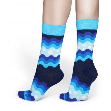 Modré ponožky Happy Socks, vzor Soda Pop