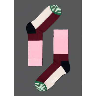 Barevné ponožky Happy Socks se vzorem Striped Toe