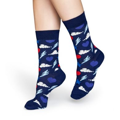 Modré ponožky Happy Socks s barevným vzorem Storm