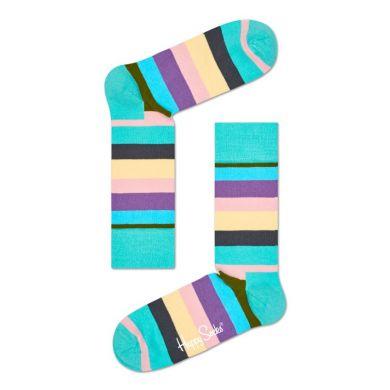 Farebné pruhované ponožky Happy Socks, vzor Stripes and Stripes