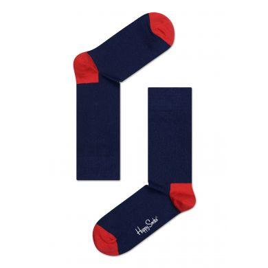 Modro-červené ponožky Happy Socks, vzor Two colors
