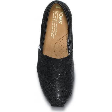 Černé dámské TOMS Glitter Alpargata