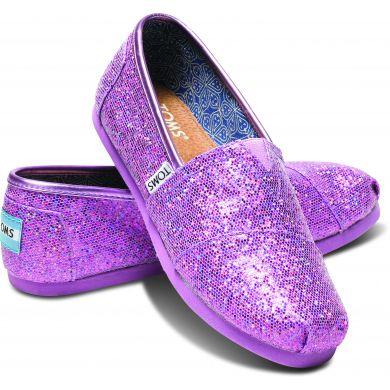 Dětské fialové TOMS Glitter Youth Alpargata