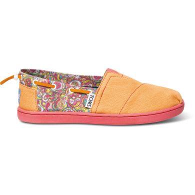 Dětské oranžové TOMS Paisley Youth Biminis
