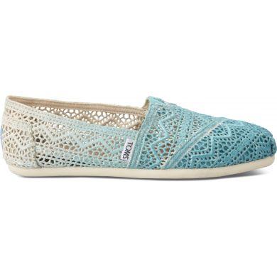Modré dámské TOMS Dip-dyed Crochet Alpargatas