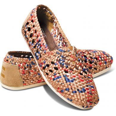 Barevné dámské saténové TOMS Crochet Alpargata
