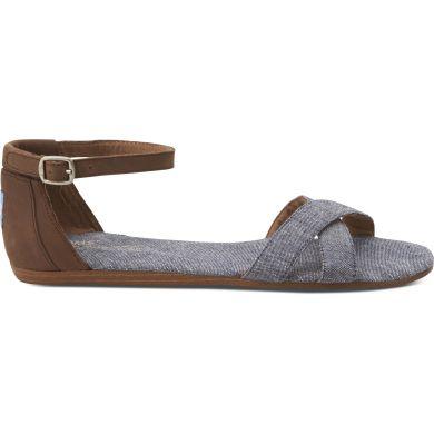 Modré dámské sandálky TOMS Chambray