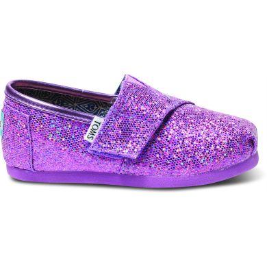 Dětské fialové TOMS Glitter Tiny Alpargata