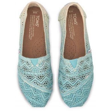 Modré dámské TOMS Dip-dyed Crochet Alpargata