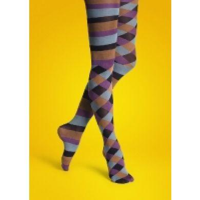 Barevné punčocháče Happy Socks s pruhy a kosočtverci