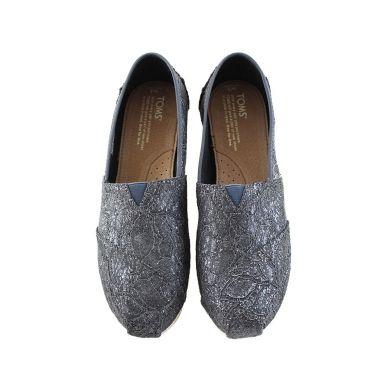 Grey Pewter Lace Glitz Women's Classics Alpargata Espadrille