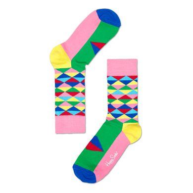 Barevné ponožky Happy Socks s kosočtverci, vzor Triangle