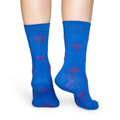 Modré ponožky Happy Socks s růžovým vzorem Umbrella