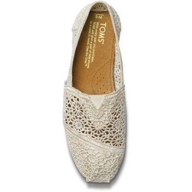Bílé dámské TOMS Crochet Alpargata