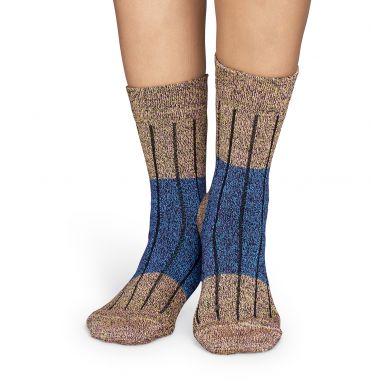 Barevné vlněné ponožky Happy Socks, vzor Wool Block