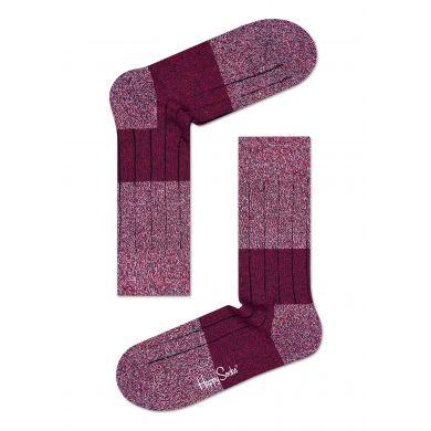 Červené vlněné ponožky Happy Socks, vzor Wool Block