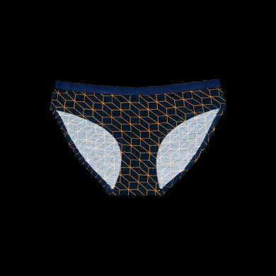 Černé kalhotky Happy Socks s oranžovým vzorem Optic