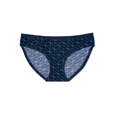 Modré kalhotky Happy Socks s tyrkysovým vzorem Optic