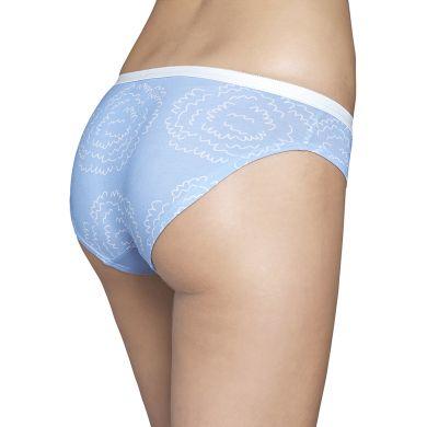Modré kalhotky Happy Socks s vlnkami, vzor Poof