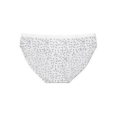 Bílé kalhotky Happy Socks s barevnými čárkami, vzor Sprinkles