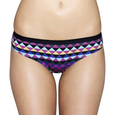 Barevné (fialové) kalhotky Happy Socks se zubatým vzorem Zig Zag