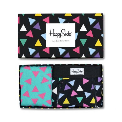Darčekový box ponožiek a boxeriek Happy Socks Triangle - 2 páry