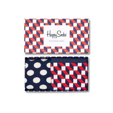 Darčekový box ponožiek a nohavičiek Happy Socks Combo Filled Optic - 2 páry