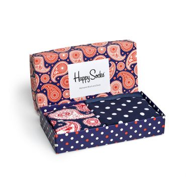 Darčekový box ponožiek a nohavičiek Happy Socks Paisley - 2 páry