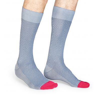 Šedo-růžové ponožky Happy Socks, vzor Structure Zebra // kolekce Dressed