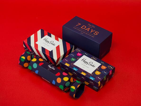 Urbanlux Vánoce - Dárkové krabičky Happy Socks