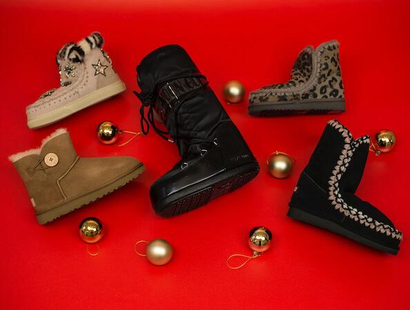 Urbanlux Vánoce - Sněhule a válenky UGG, Moon Boots, Mou